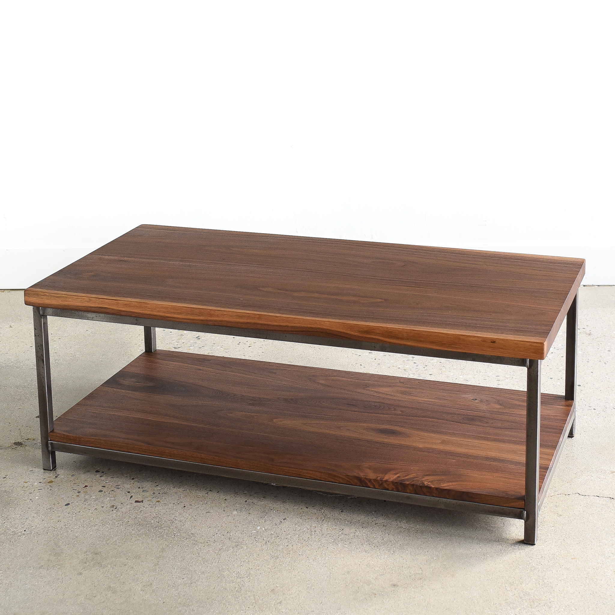 Stoic Walnut Wood Coffee Table Lower Shelf What We Make