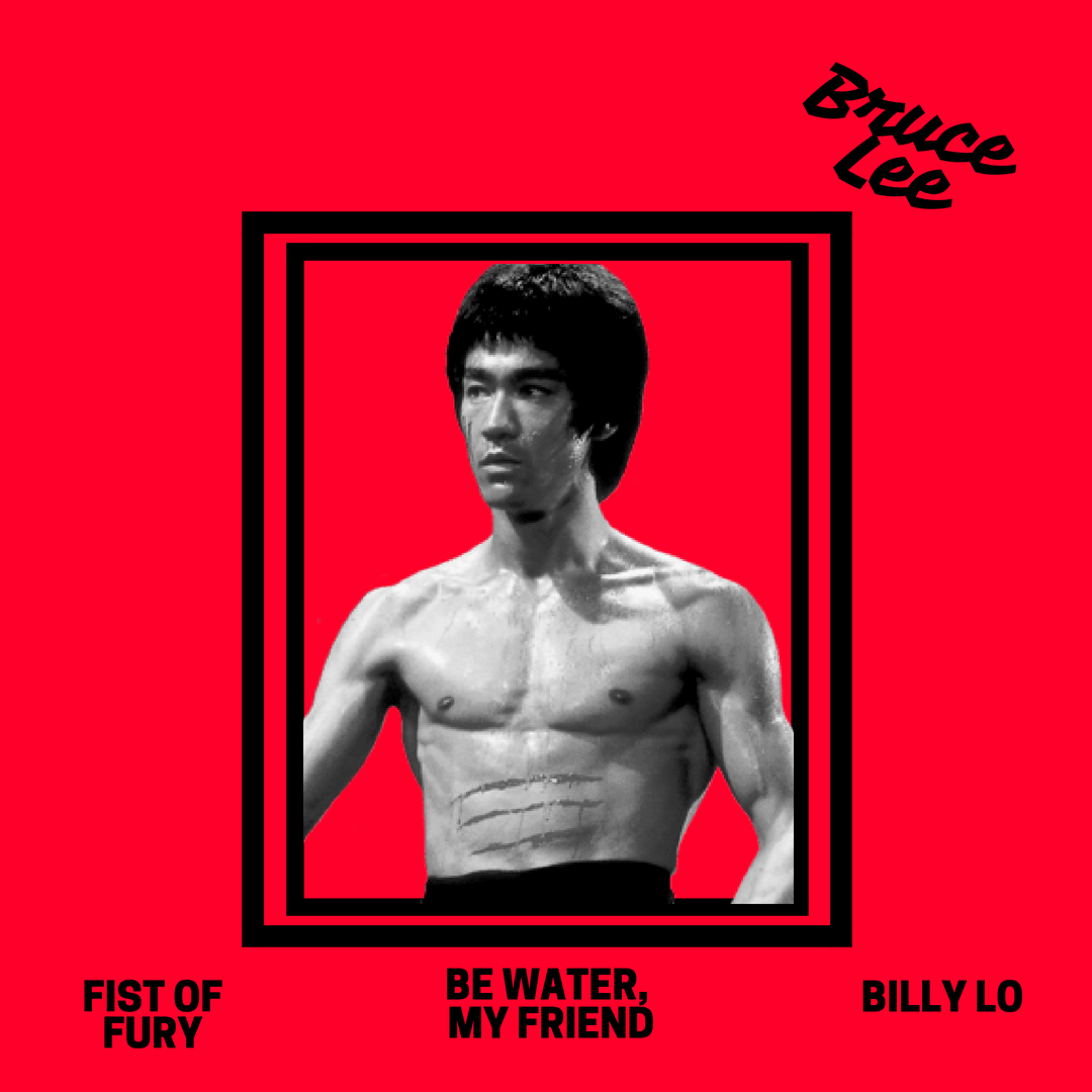 Bruce Lee Become Water Hong Kong American Actor Film Martial Arts Quote Poster