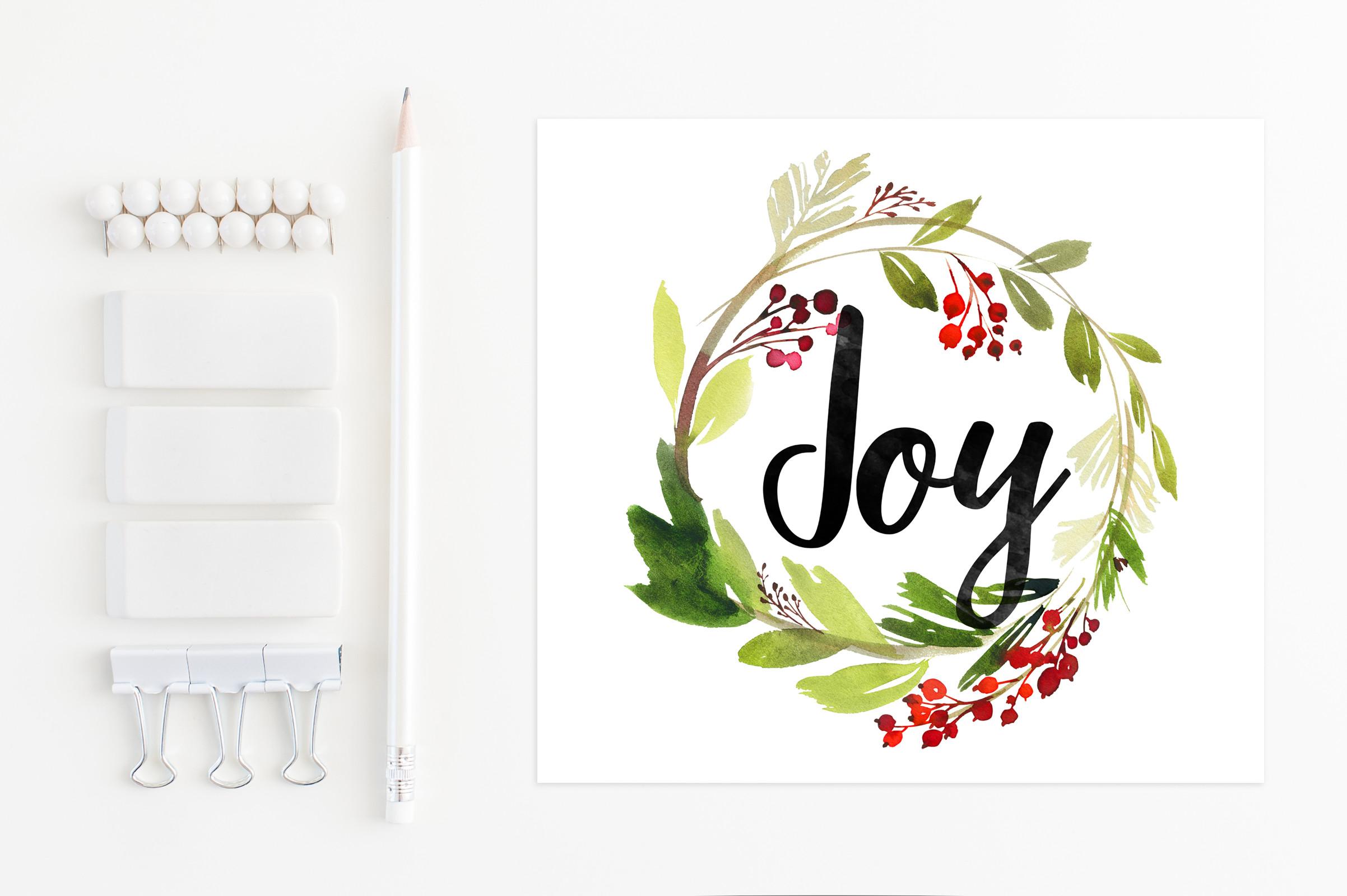 Advent joy. Wreath clip art