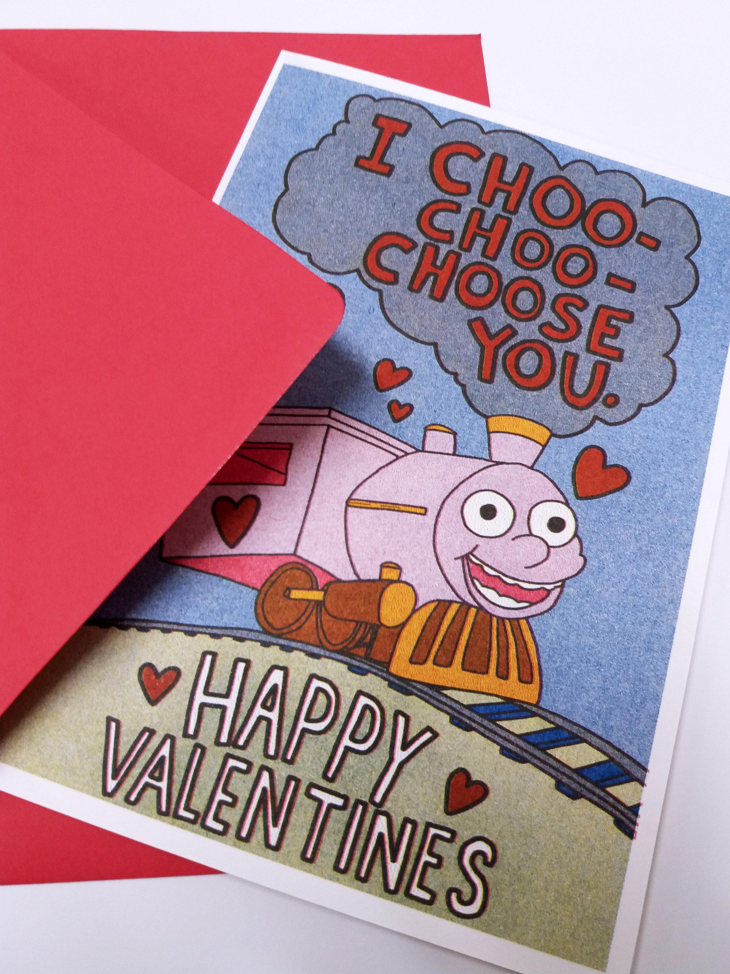 photo about I Choo Choo Choose You Printable Card identified as \
