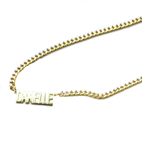The Mini Choker Nameplate Necklace The M Jewelers