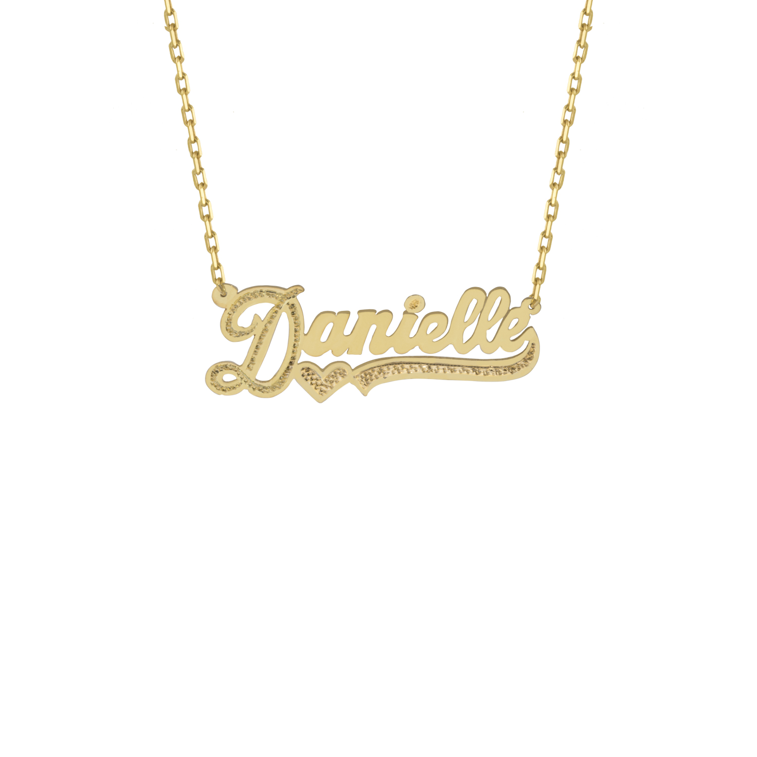 THE CUT TONE NAMEPLATE NECKLACE — The M Jewelers