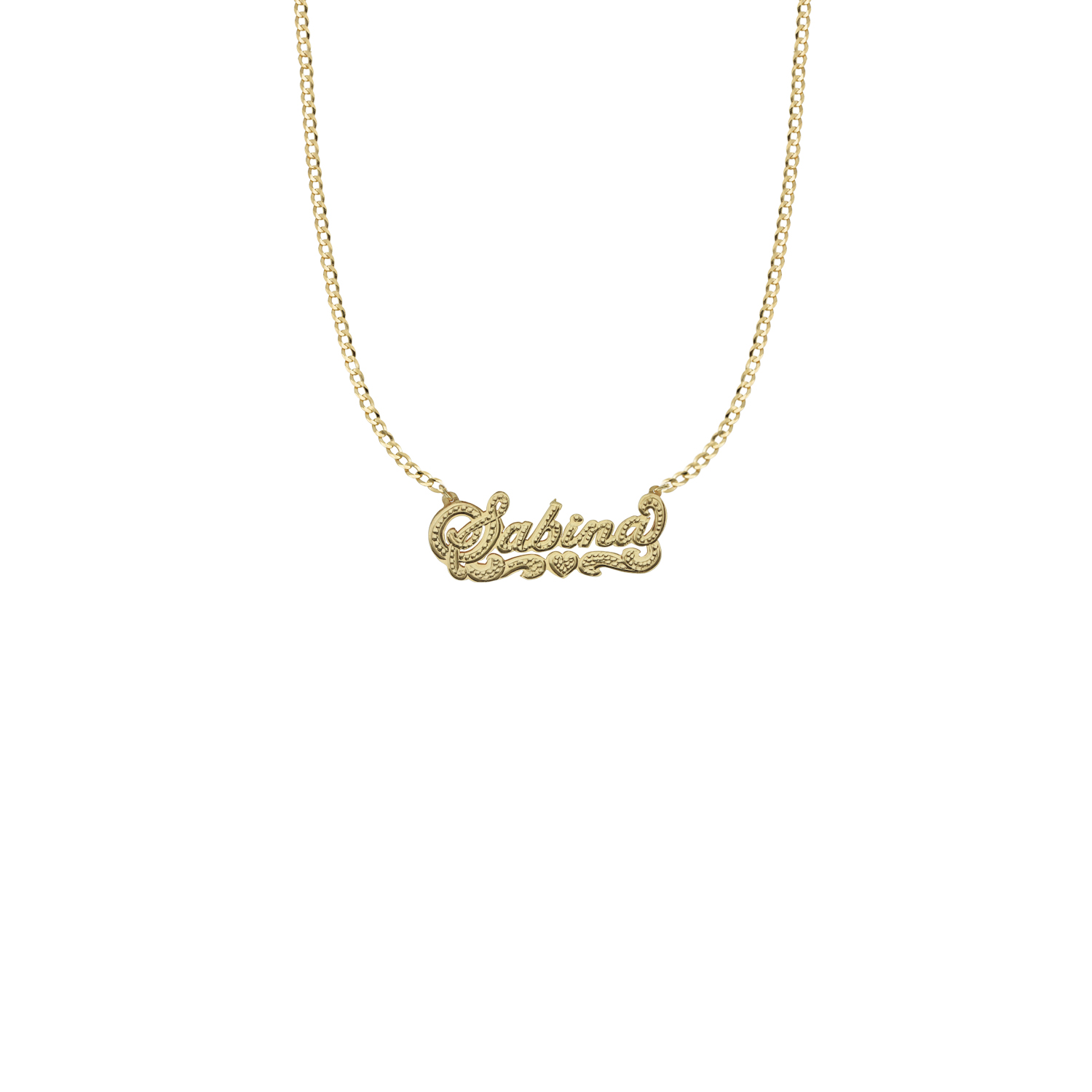 THE DOUBLE PLATE CLASSIC NAMEPLATE NECKLACE — The M Jewelers