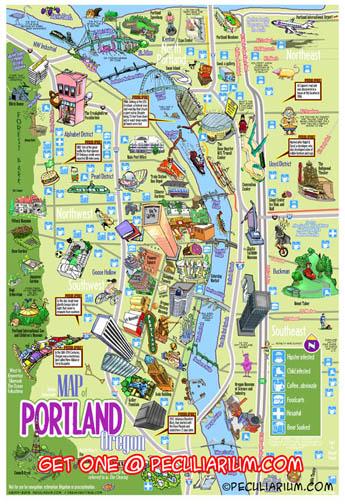 Funny Portland City Map — Peculiarium