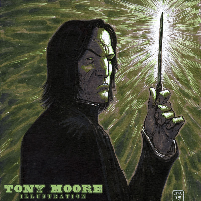Sketch of the Day! SEVERUS SNAPE — COLONEL TONY MOORE