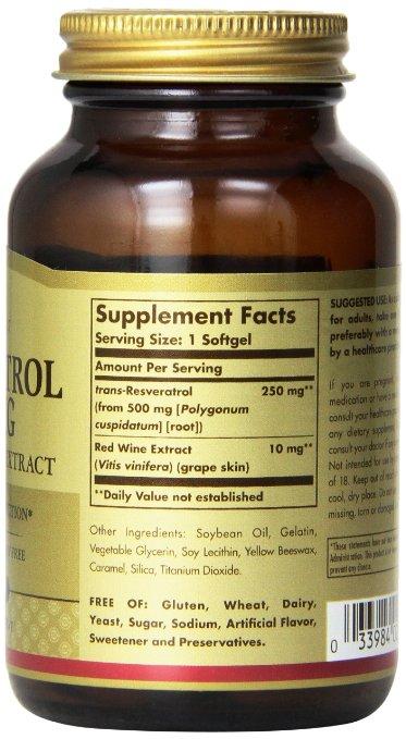 Solgar Resveratrol 250 Mg The Organic Market