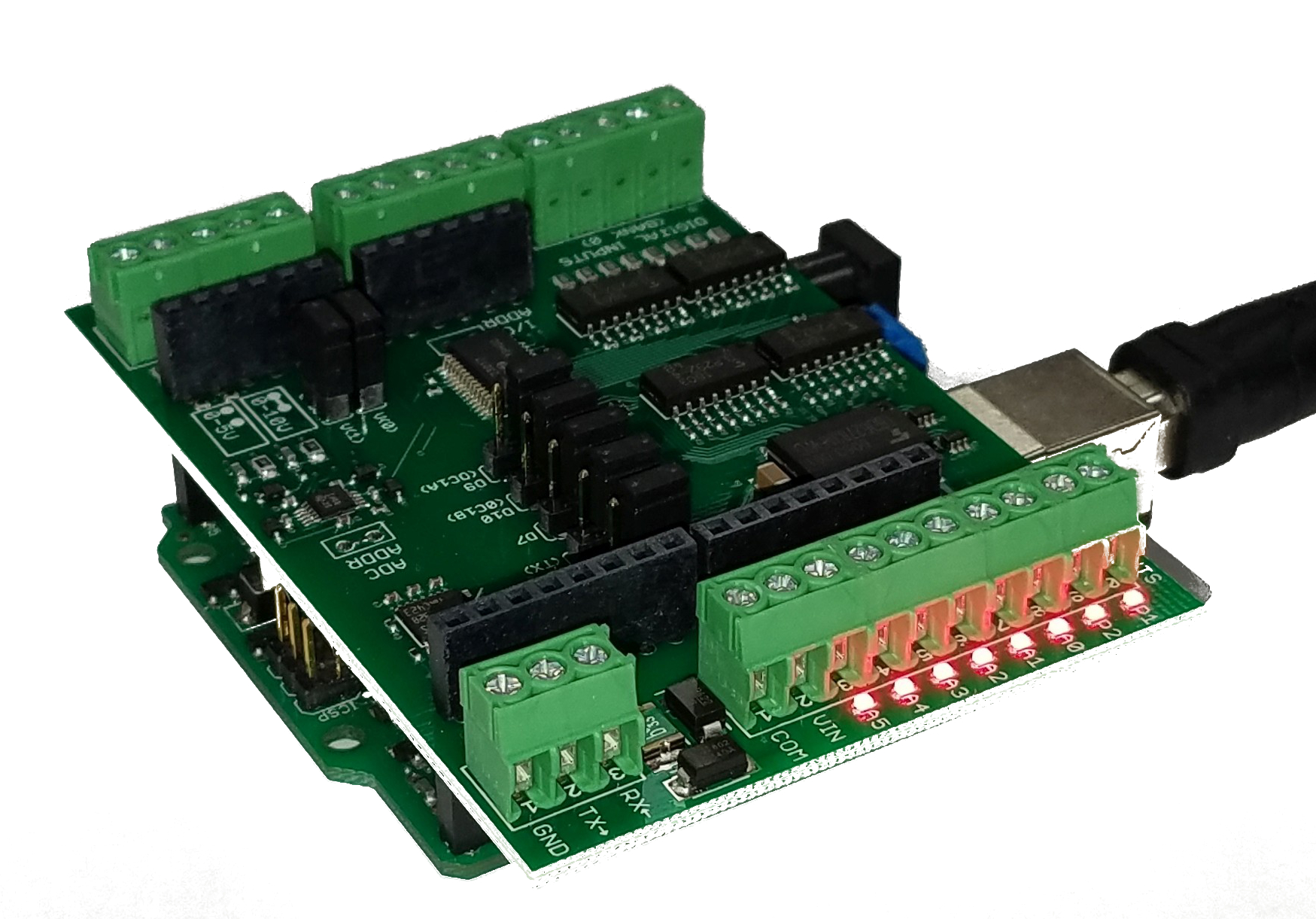 24V Industrial I/O Shield PLC Replacement — Rugged Circuits