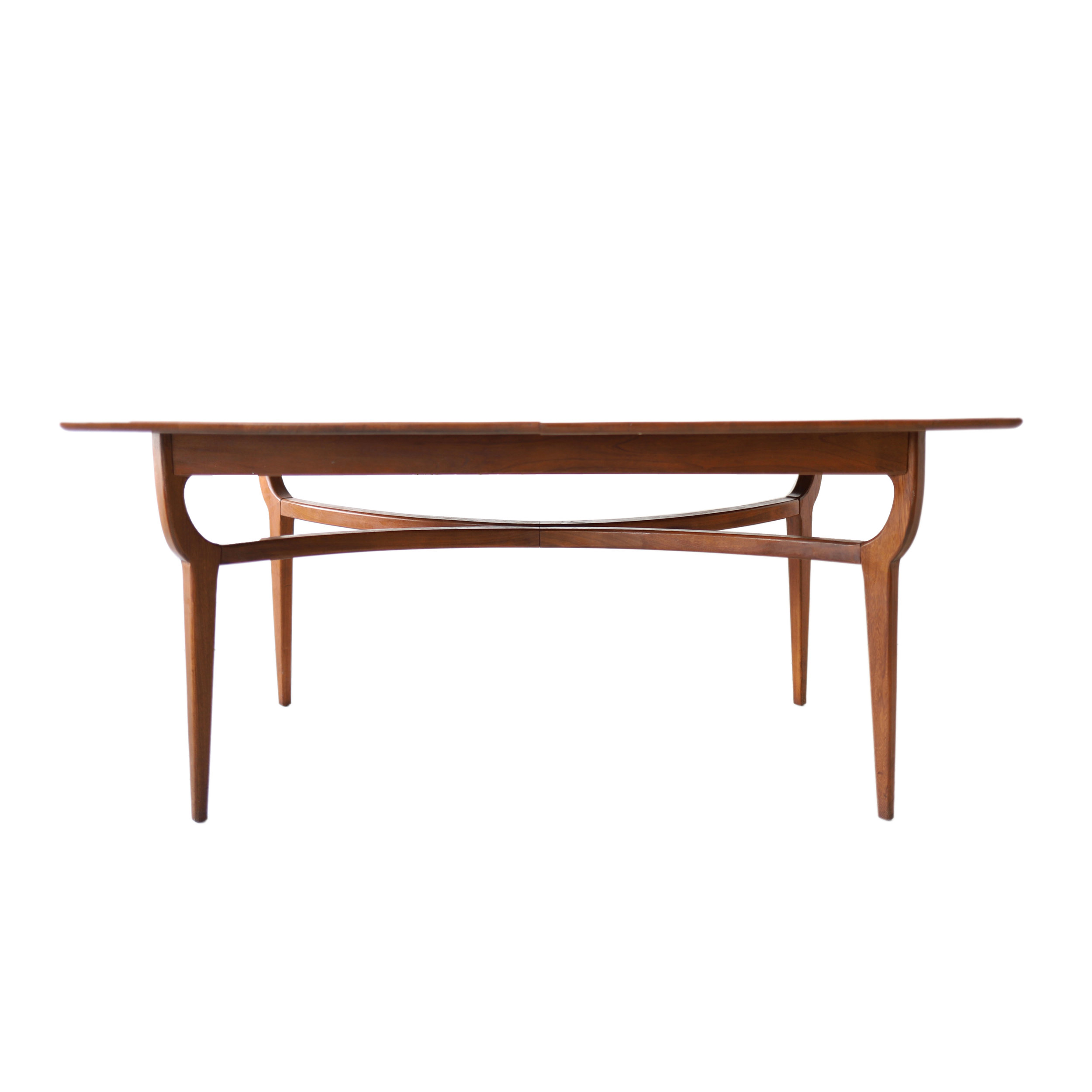 At 1st Sight New Products Vintage Mid Century Modern Extending Geometric Walnut Dining Table