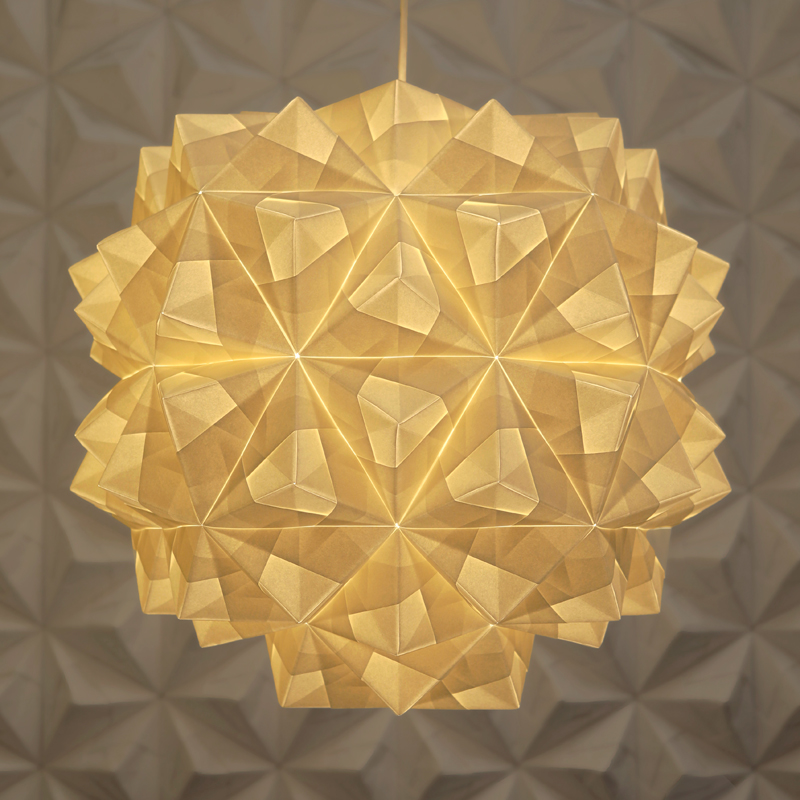 Origami Lampshade Leah Pendant Paper Artist London Foldability