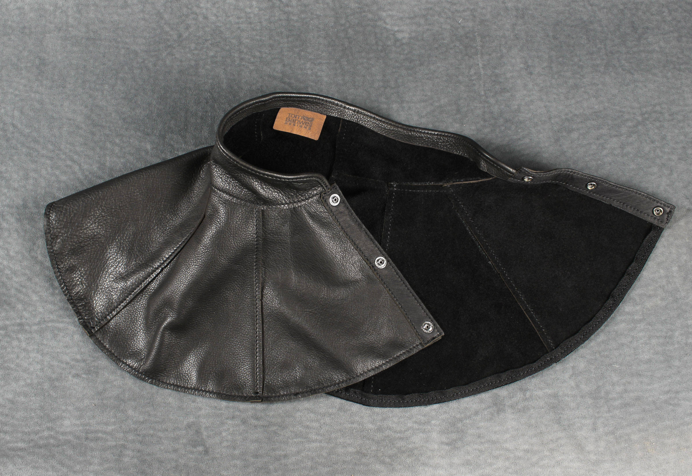 Plague Doctor mantle in black garment leather — Tom Banwell Designs