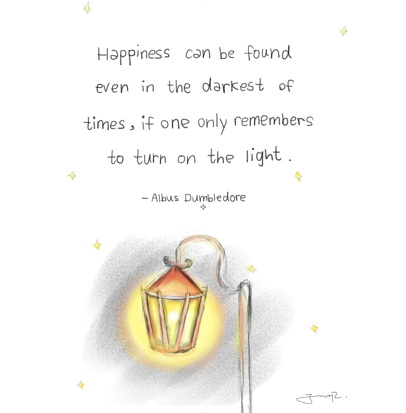 albus dumbledore quote harry potter shop art print little sketchy