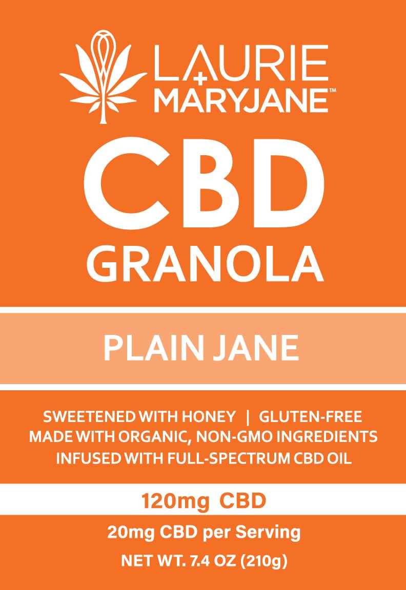 Full-Spectrum CBD Granola: Plain Jane (120mg CBD) — Laurie + MaryJane