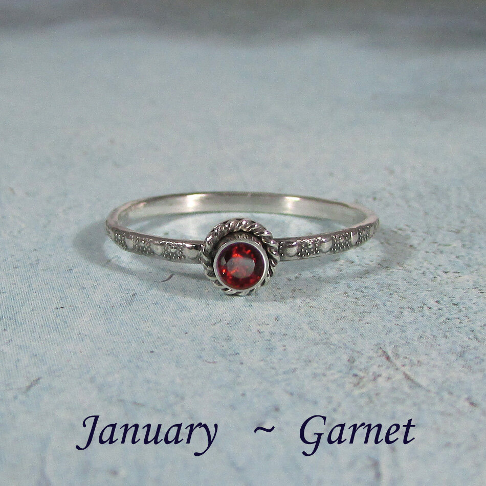 Stacking RINGS-1 NAME/_1 twist1 birthstone spacer in sterling SILVER