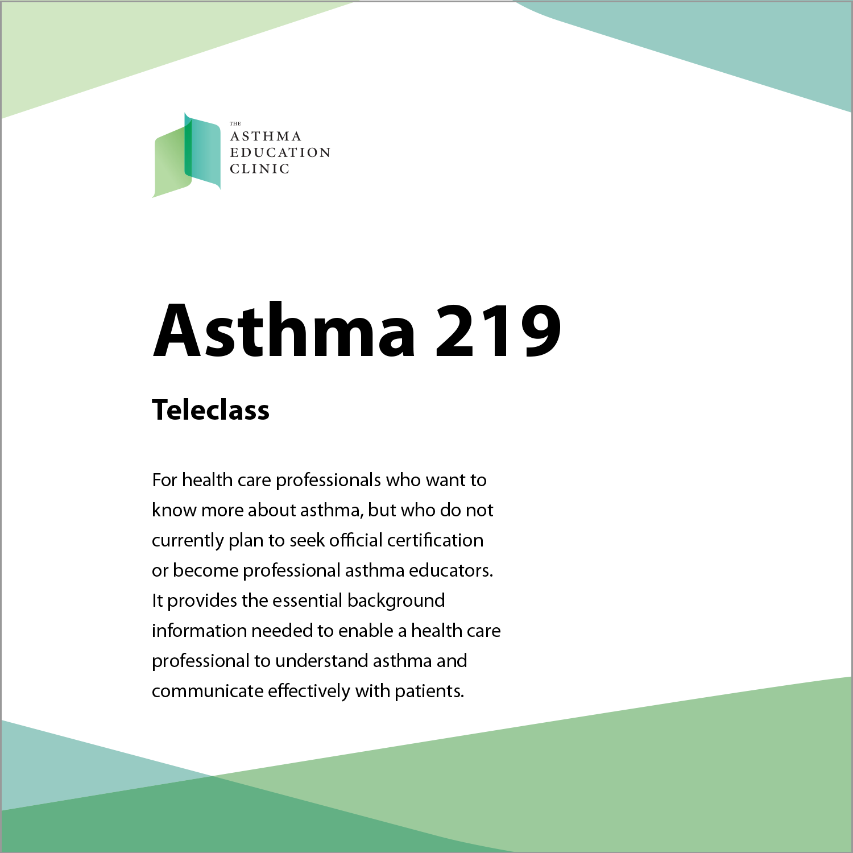 Asthma 219 The Asthma Education Clinic