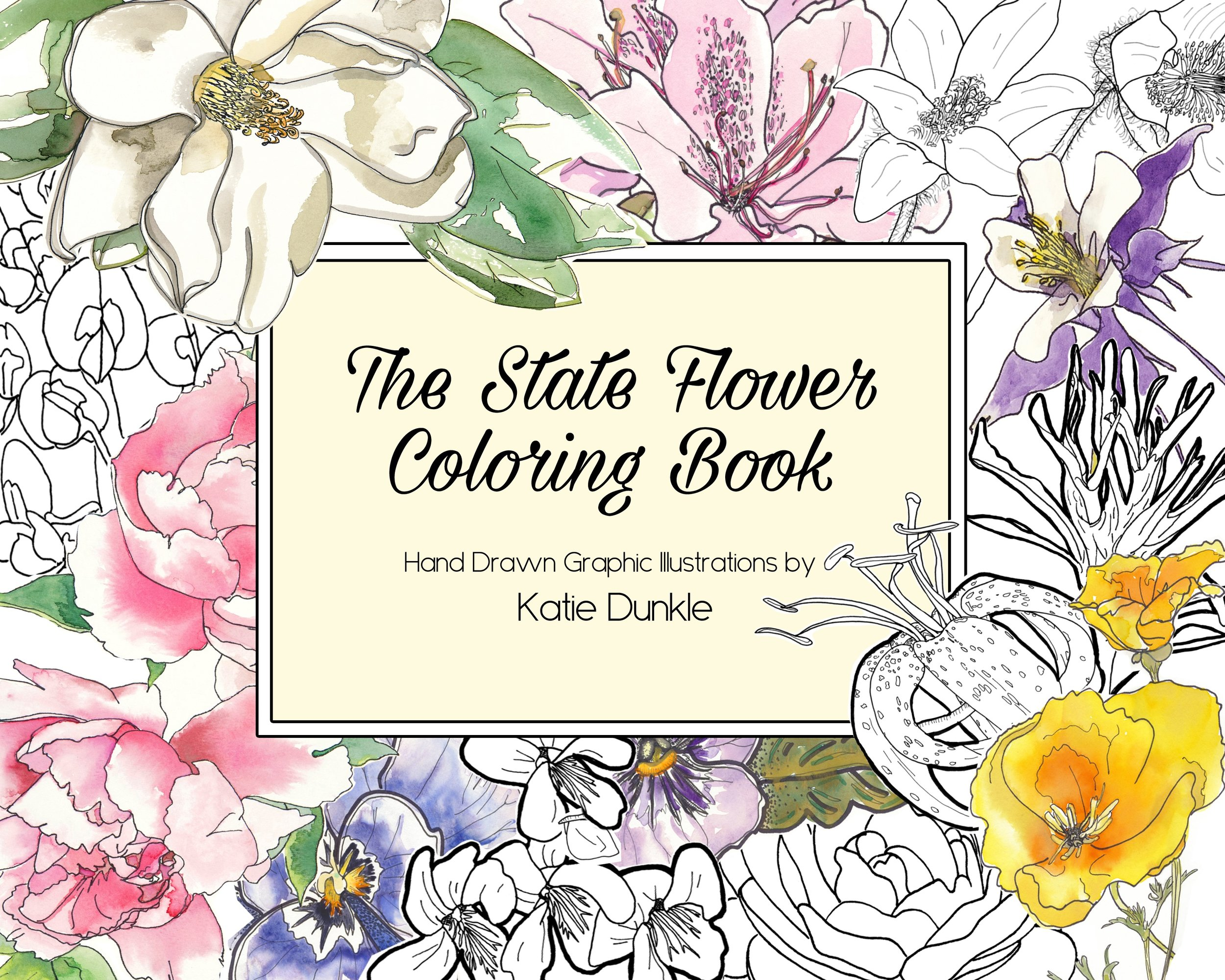 - The State Flower Coloring Book — K D Chance