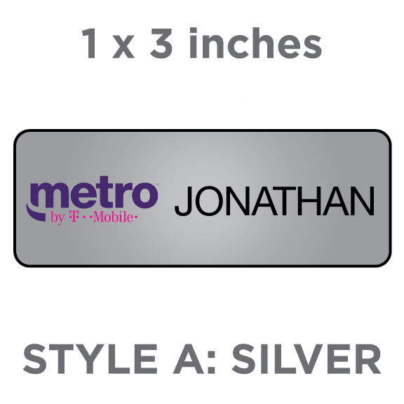 Metro By T Mobile Style A Silver Badgeworks Plus