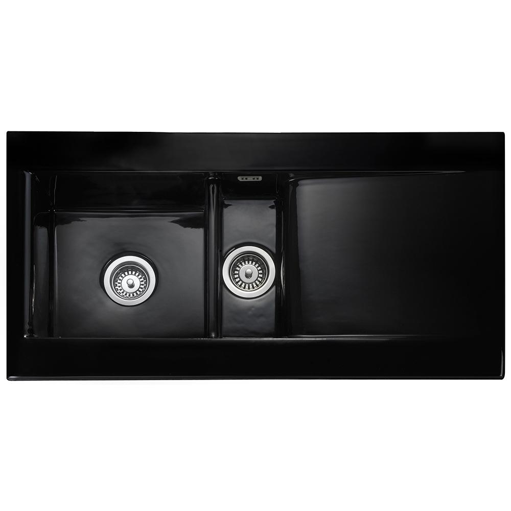 Astini Desire 150 1 5 Bowl Gloss White Ceramic Kitchen Sink Waste Home Furniture Diy Kitchen Sinks Without Taps Redhot Cl