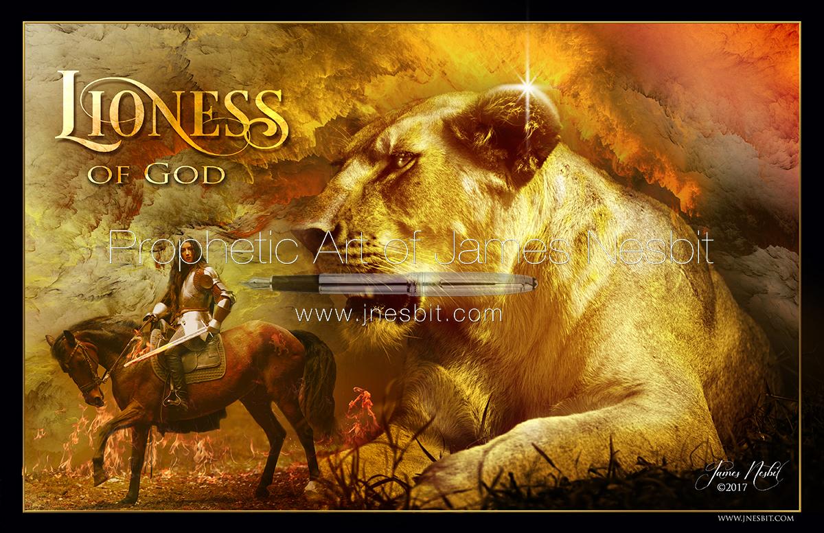 Lioness of God — Products – Prophetic Art of James Nesbit