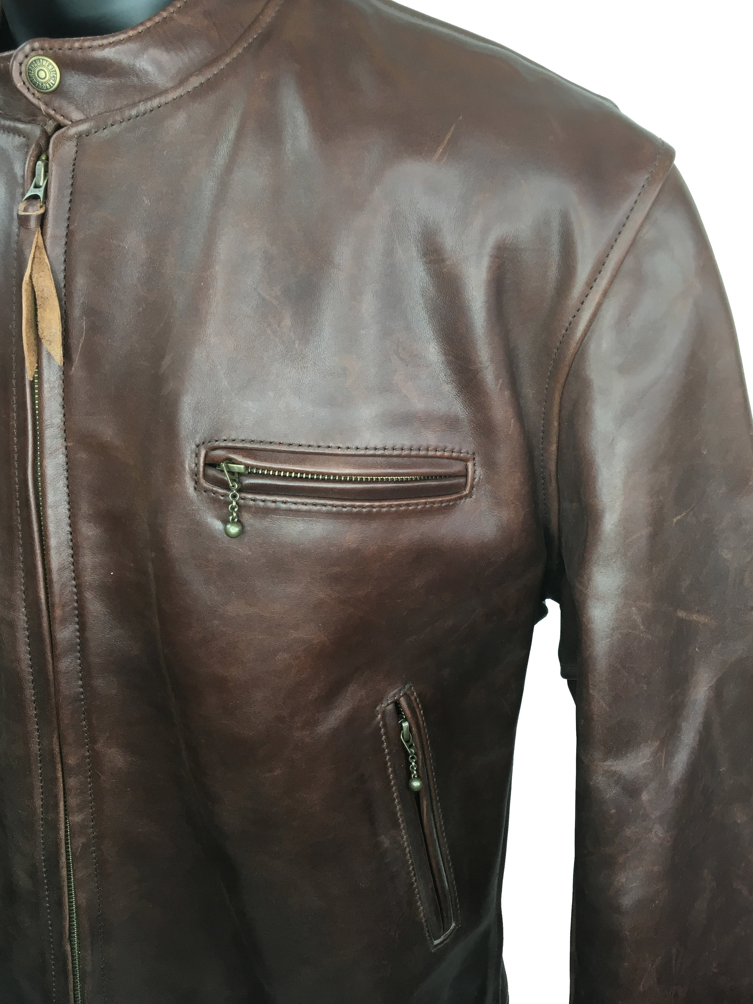 aliexpress latest fashion select for genuine BOLT — Aero Cafe Racer Brown Motorcycle Jacket