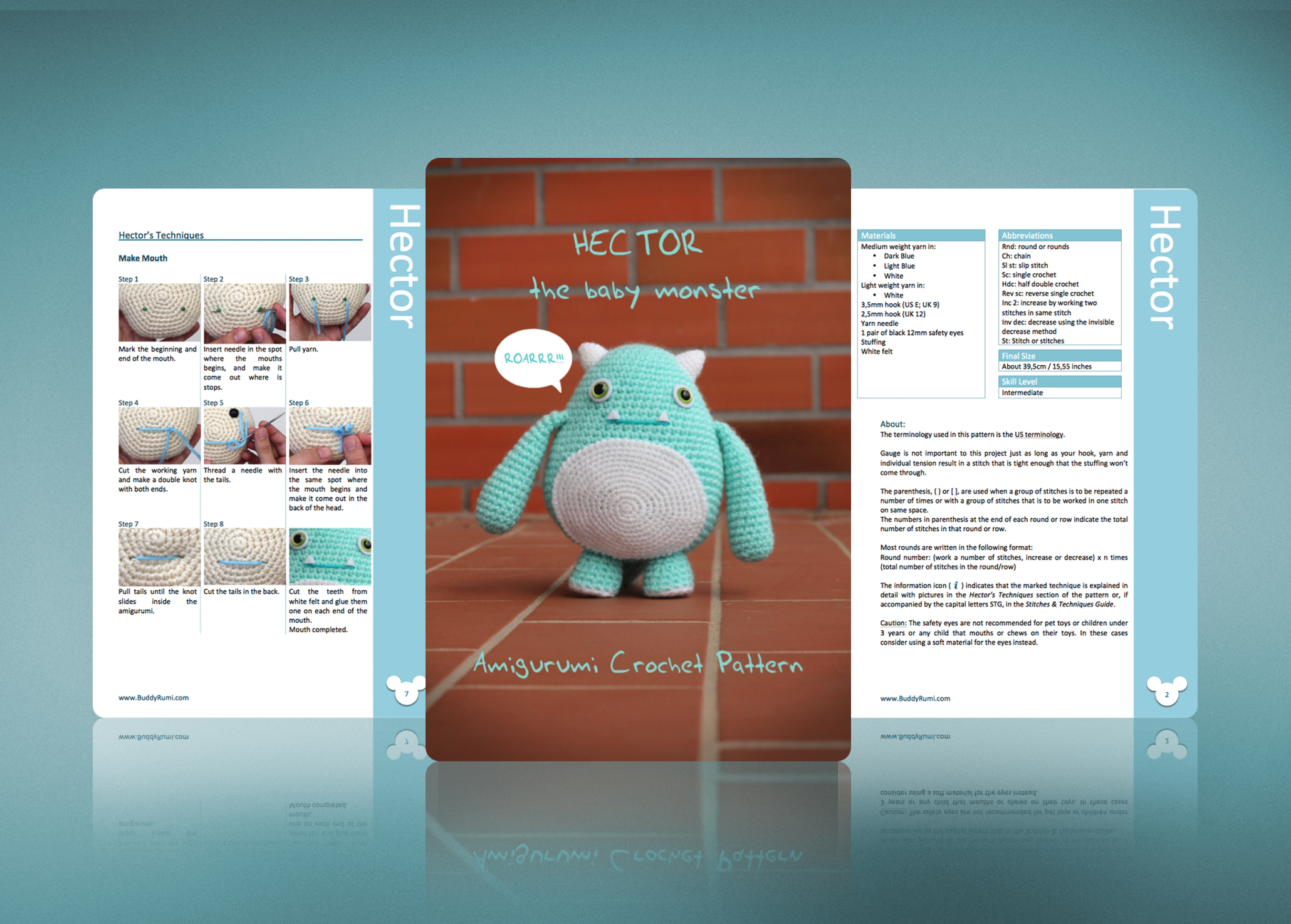 Monster Amigurumi | Crochet patterns, Crochet monsters, Crochet ... | 716x1000
