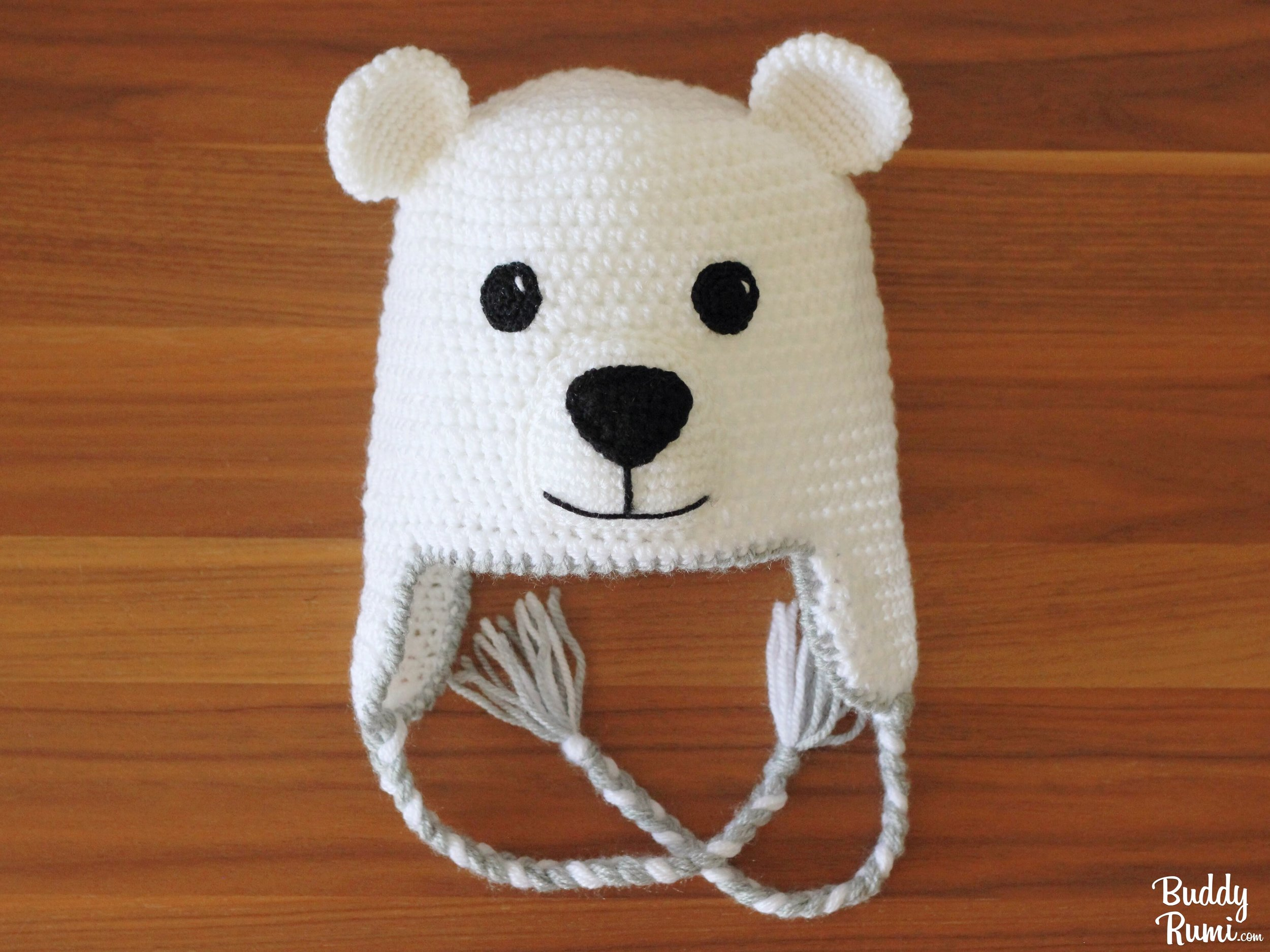 Free Knitting Pattern for Polar Bear Toy - Learn how to knit this ... | 750x1000