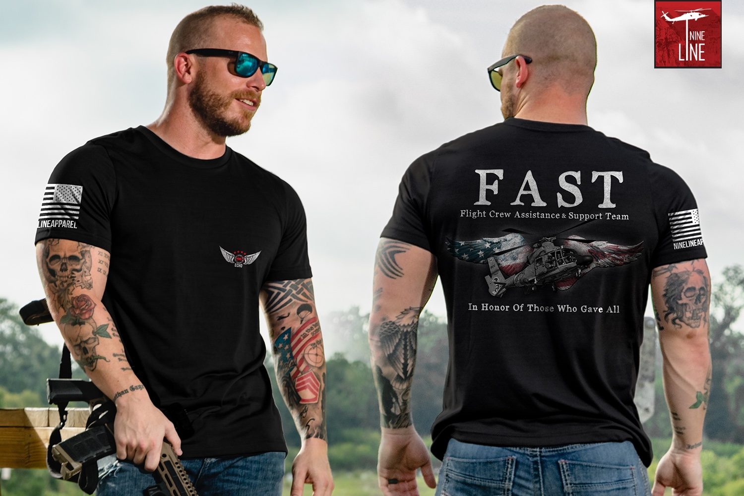 FAST Team Fundraiser T-Shirt (Nine Line Apparel) — ECHO - Every Coast  Helicopter Operations
