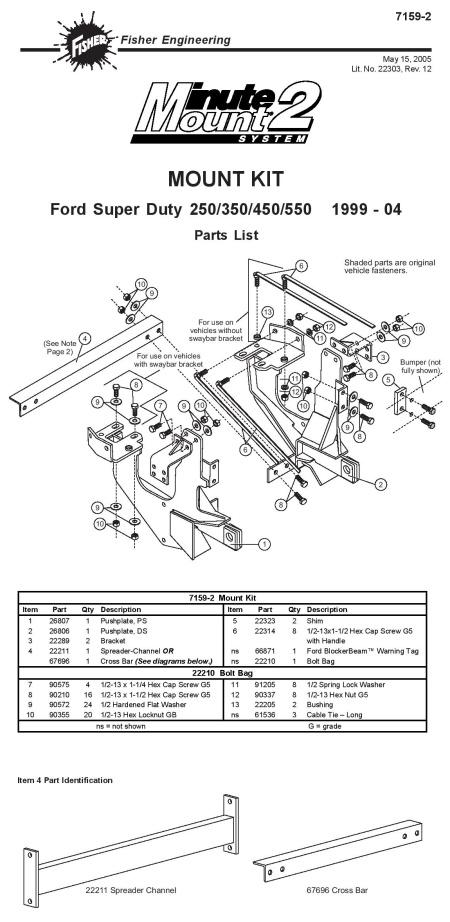 NEW Fisher Minute Mount 1 & 2 Plow Frame Mounts — Boondocker Equipment, on