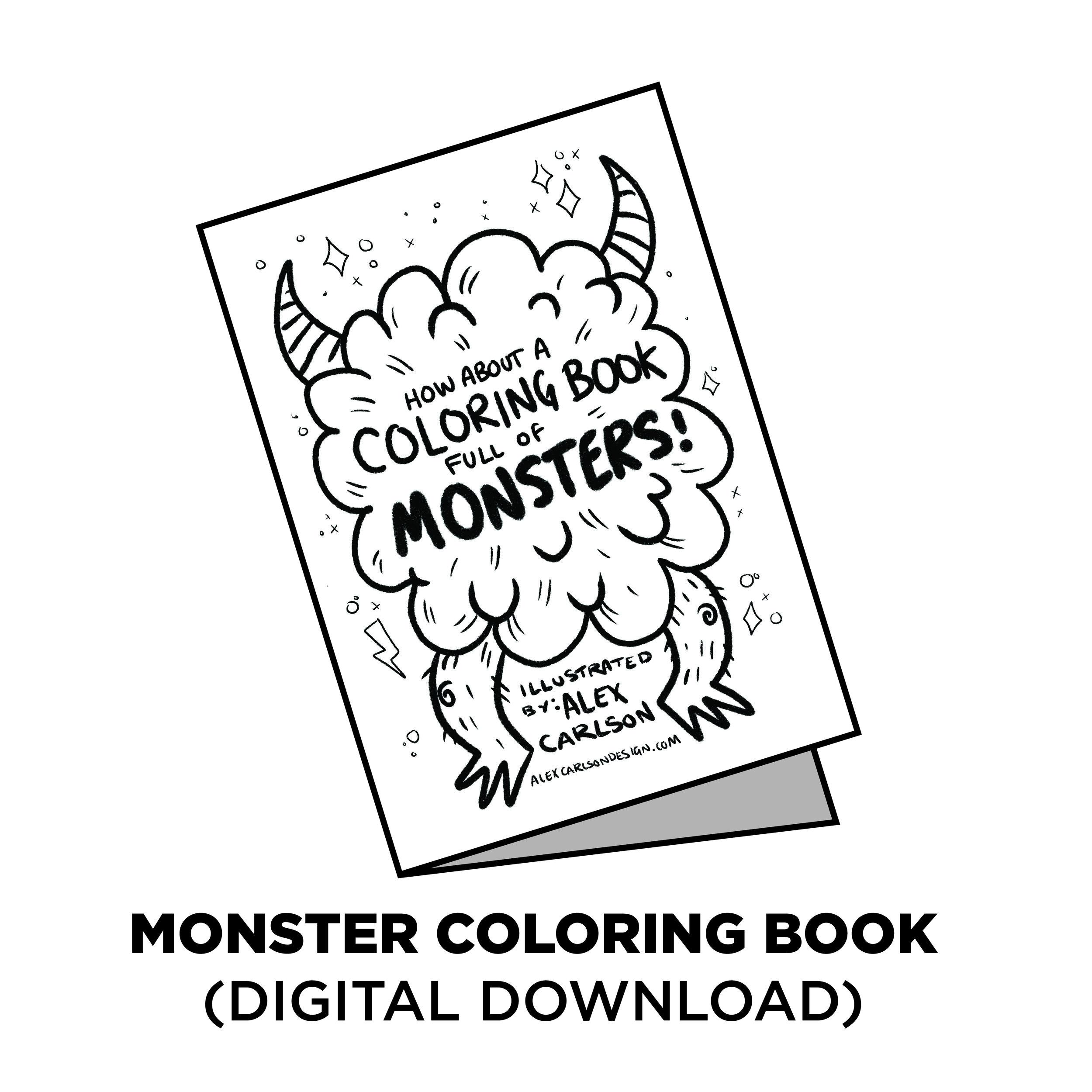 - MONSTER COLORING BOOK Free Digital Download — ALEX CARLSON, DESIGN