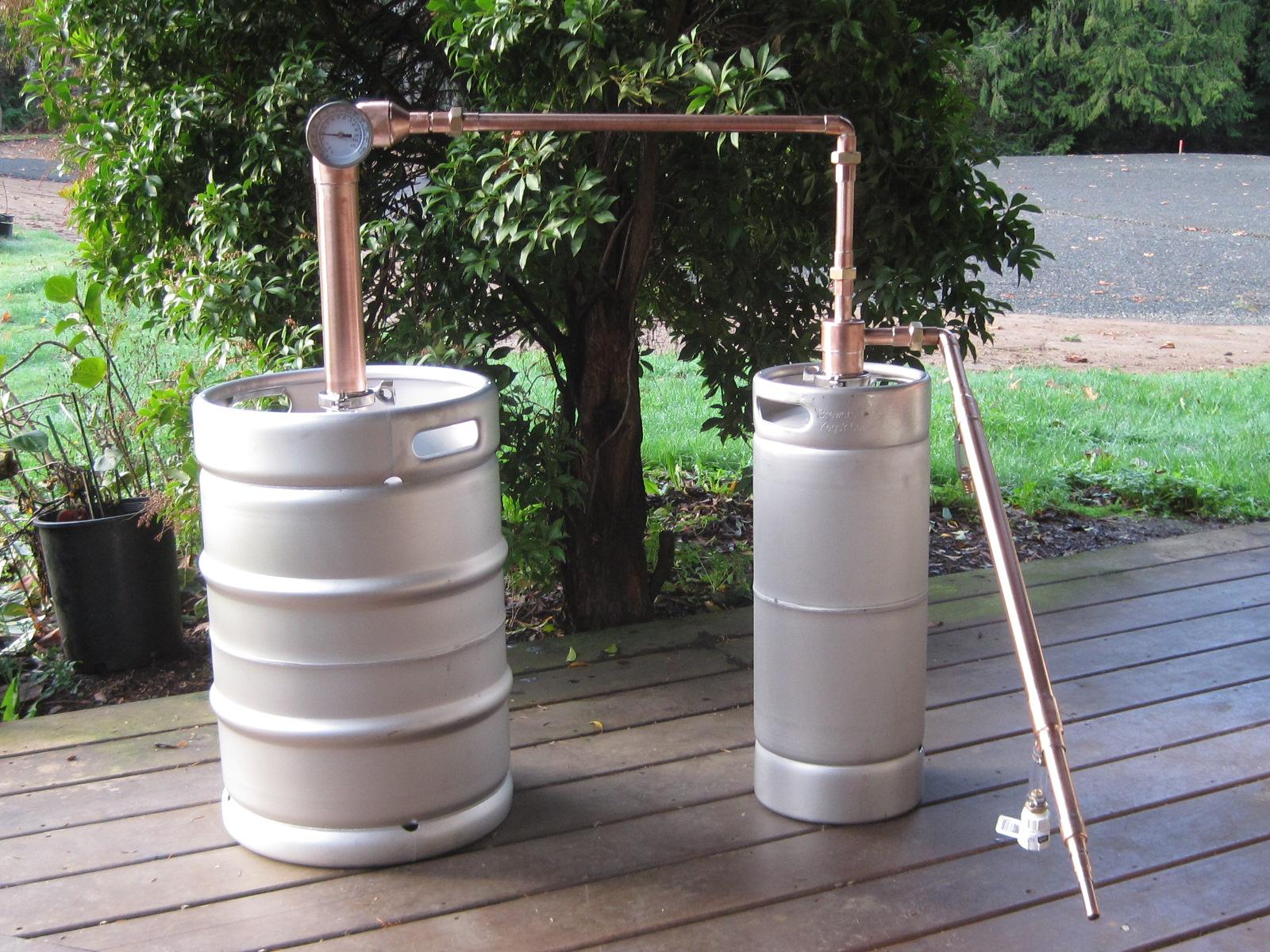 Beer Keg Whiskey Still - 3/4