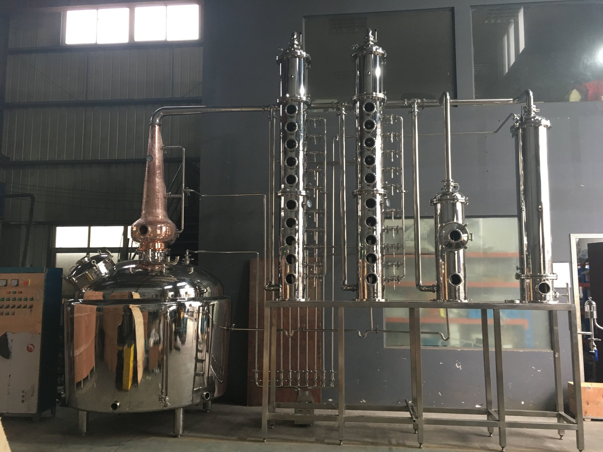 OLYMPIC MASTER SERIES VODKA/GIN/WHISKEY STILL 18 PLATE, 400 GALLON (1600L)  — Moonshine Stills & Distillery Equipment