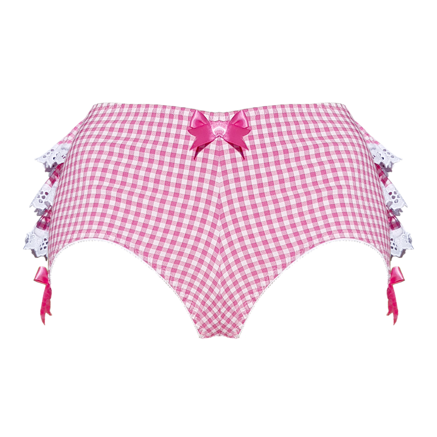 60% discount cozy fresh 2019 best Candy pink gingham frilly back knickers — Buttress & Snatch