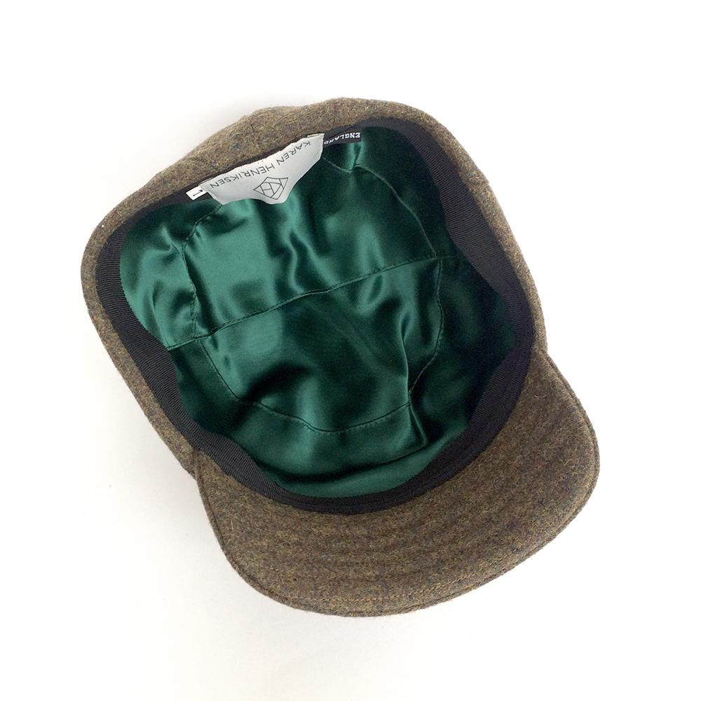 84fb6c7f Shetland Wool Military Cap for Men - 'Alonso' in khaki — Karen Henriksen