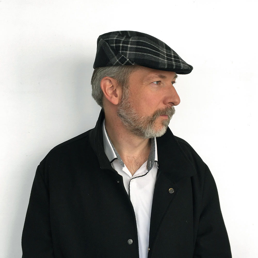 e58817578096d NEW - Tartan Wool Flat Cap for Men - 'Murray' in grey & black — Karen  Henriksen