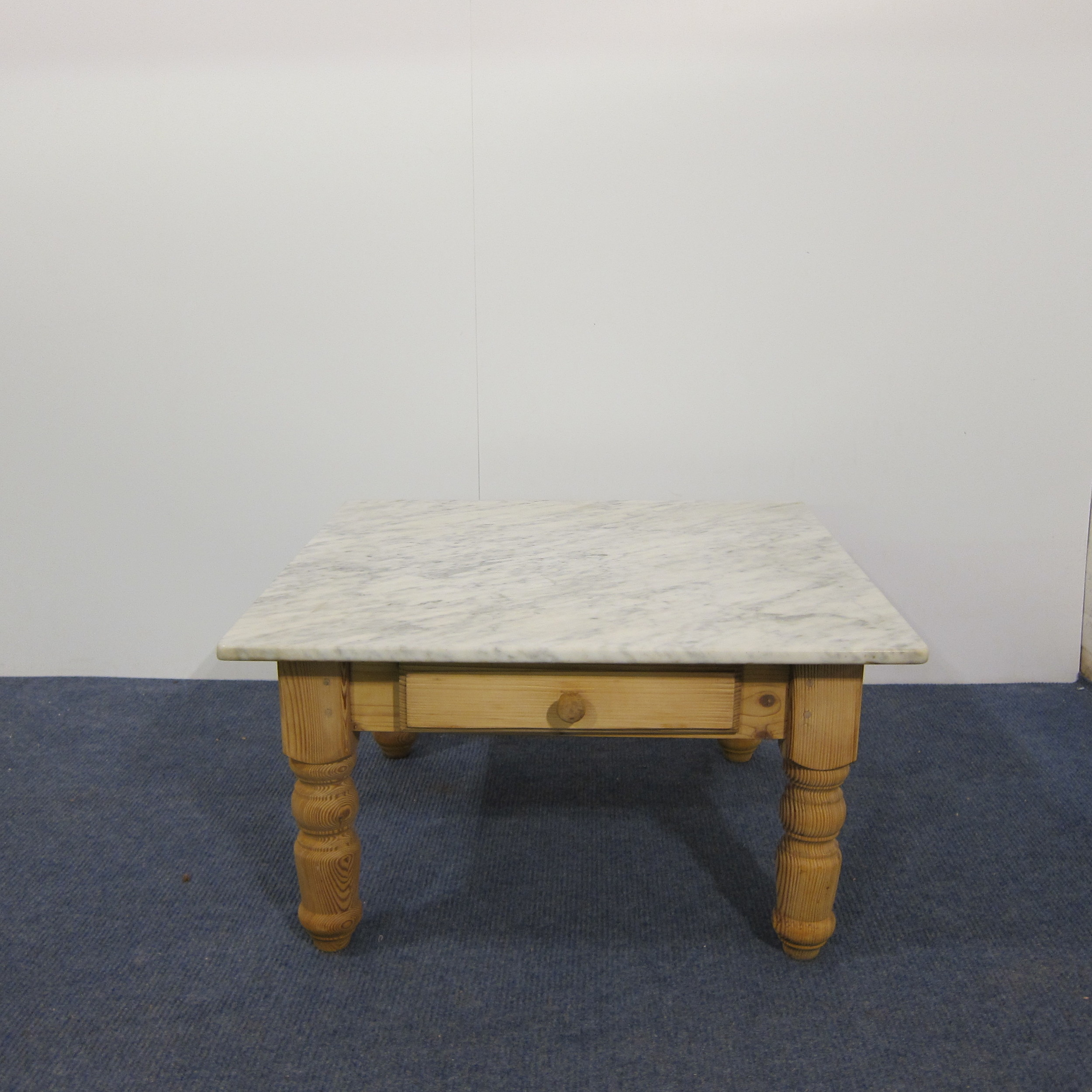 Marble Top Pine Coffee Table With Drawer D3509a Pinefinders