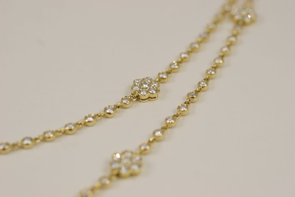 70989fb72a1 Diamond Chain and Flower station 36'' Necklace — Jeri Cohen Fine Jewelry