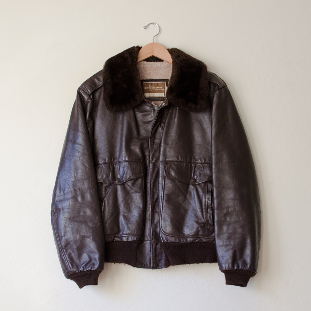 284a1b3be Vintage 1970's Fur Lined Leather Bomber Jacket — MOTH ODDITIES