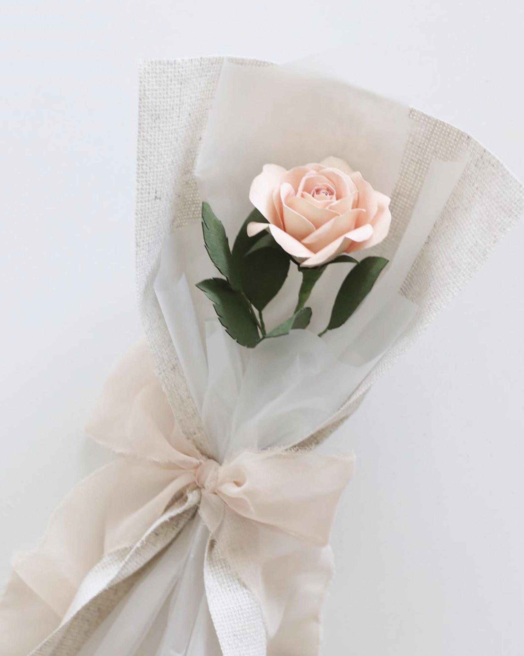 Single Flower Bouquet Handmade By Sara Kim