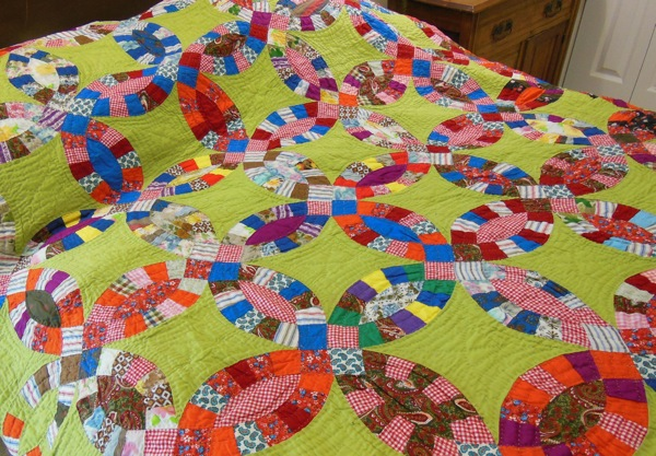 Double Wedding Ring Quilt.Bluebird Gardens Quilts And Gifts
