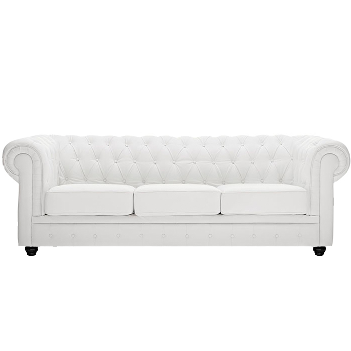 White Chesterfield Sofa Rentquestnyc