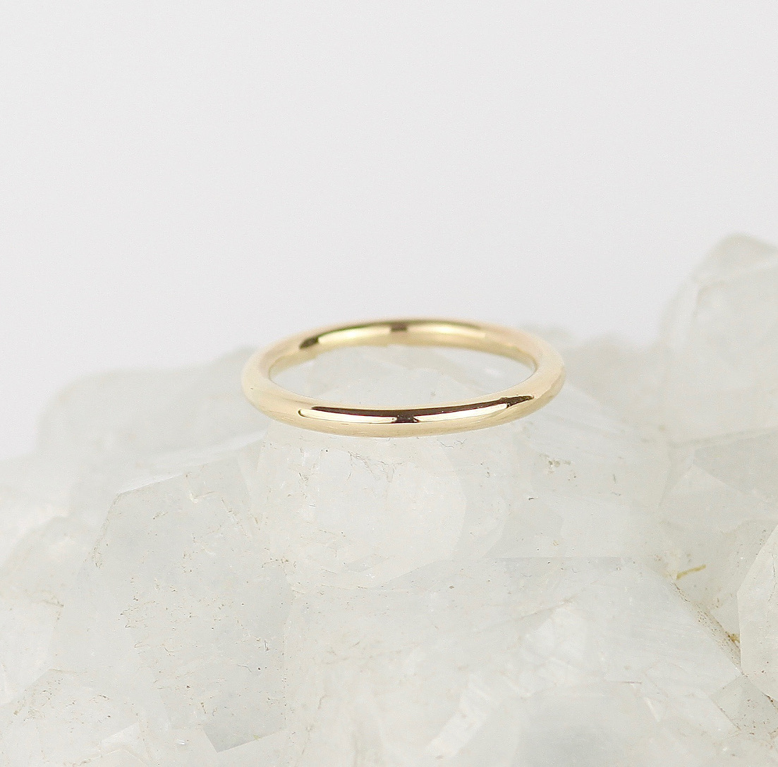Simple Wedding Ring.Simple Recycled 9ct Wedding Ring 2mm Marcia Vidal