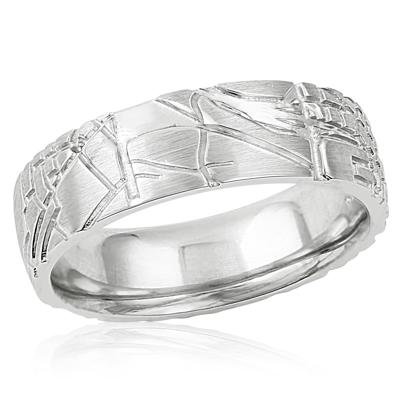 White Gold Mens Wedding Bands.Men S White Gold City Street Map Ring Mark Michael Diamond Designs