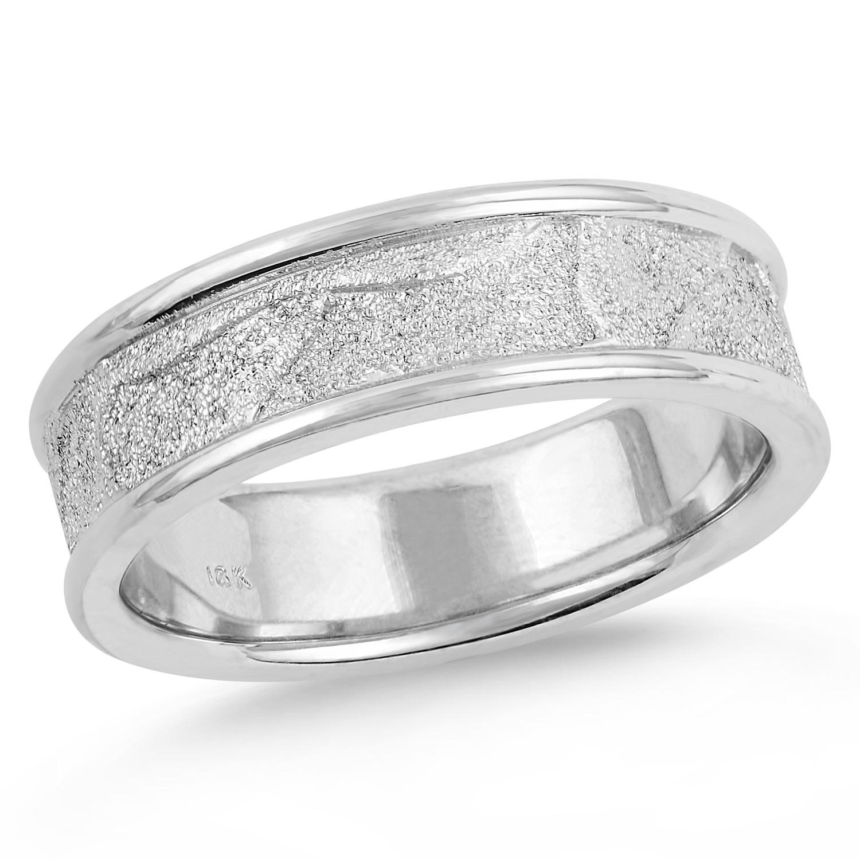 Men S Organic Stippled Finish Wedding Ring Mark Michael Diamond