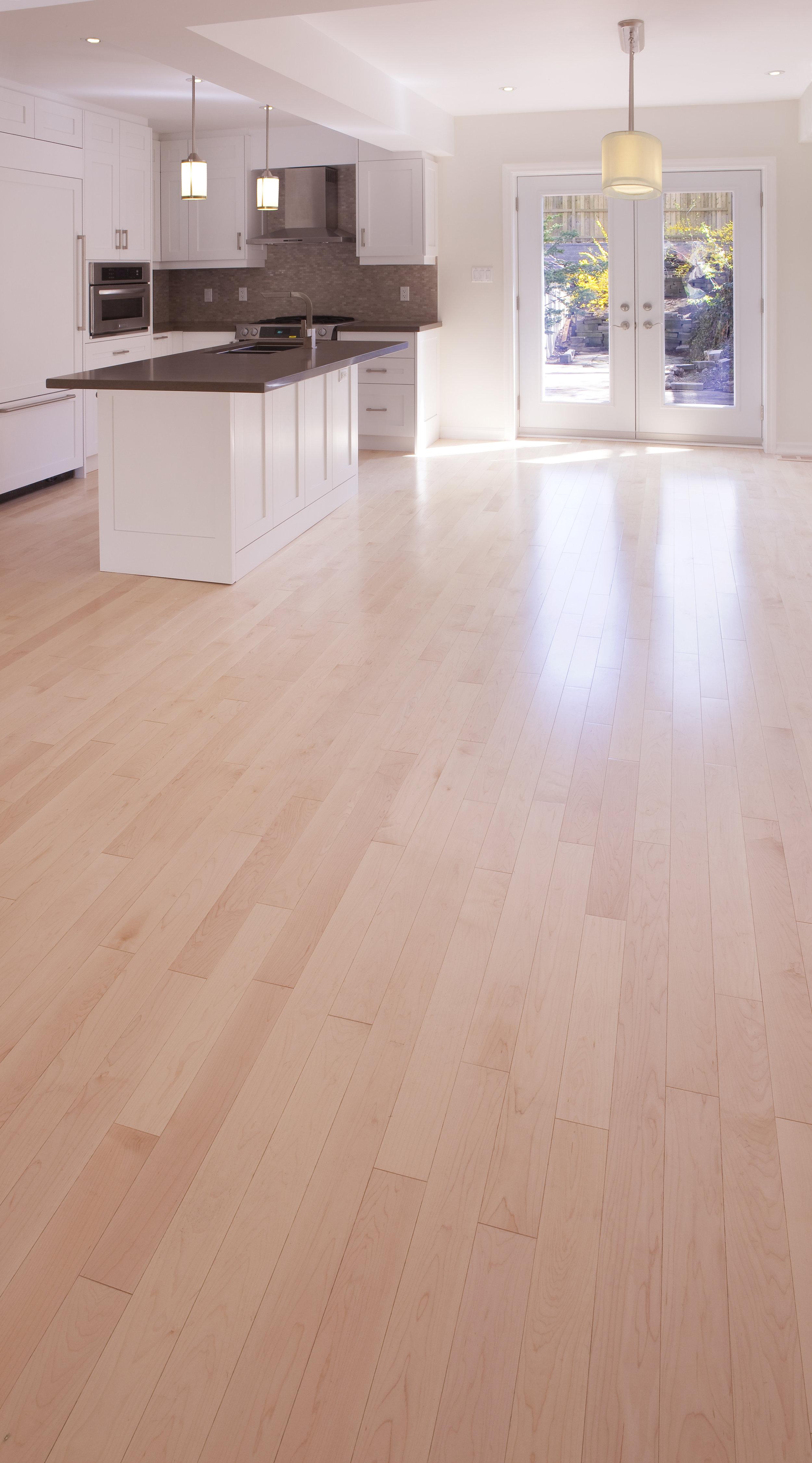 Natural Maple Boardwalk Hardwood Floors
