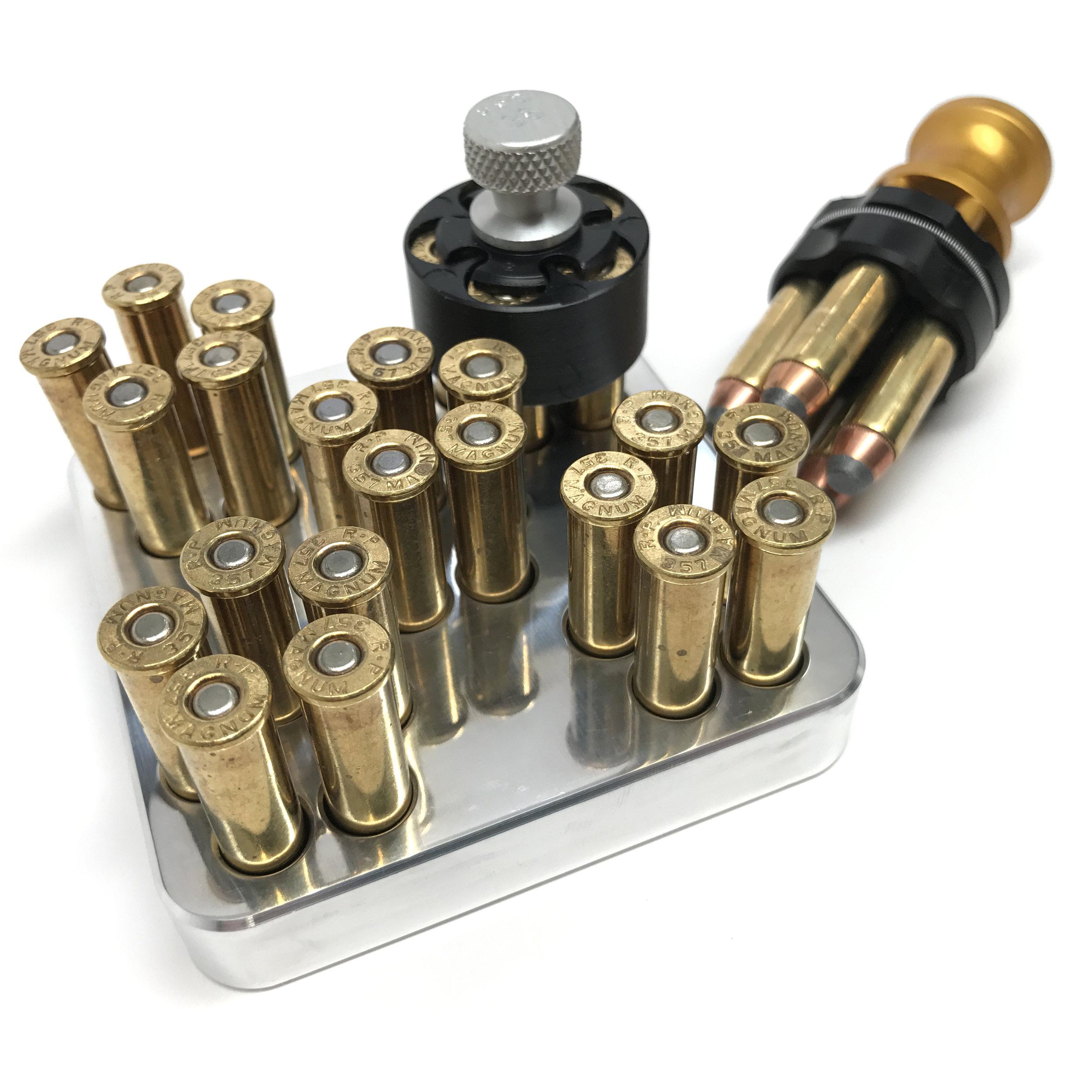 .357 Magnum Revolver Speedloader Tray MAKERSHOT .38 Special 5 Shot Block