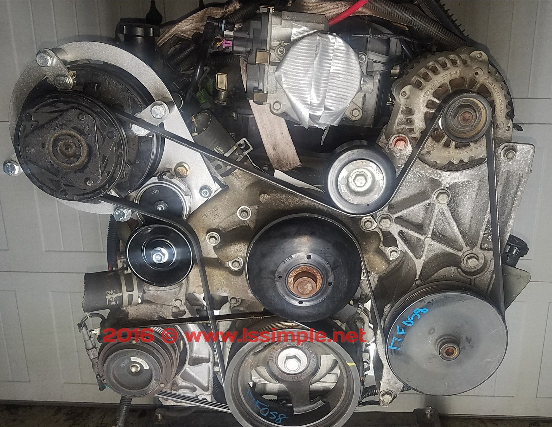 R-4 a/c stand alone bracket kit no compressor with belt free shipping U S   TS