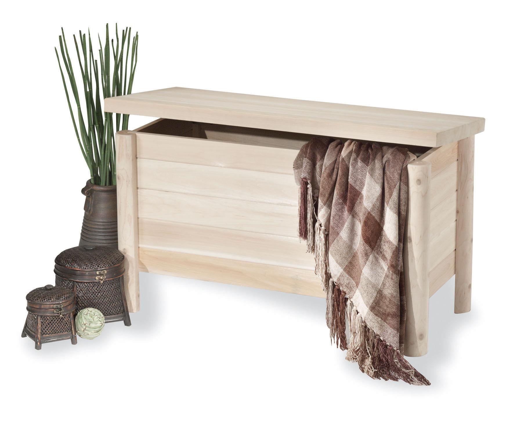 Furniture Bedroom Cedar Quilt Blanket Storage Chest Woodland Things