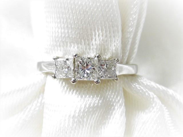 14k White Gold 3 Stone Princess Cut Diamond Ring Gordon Jewelers