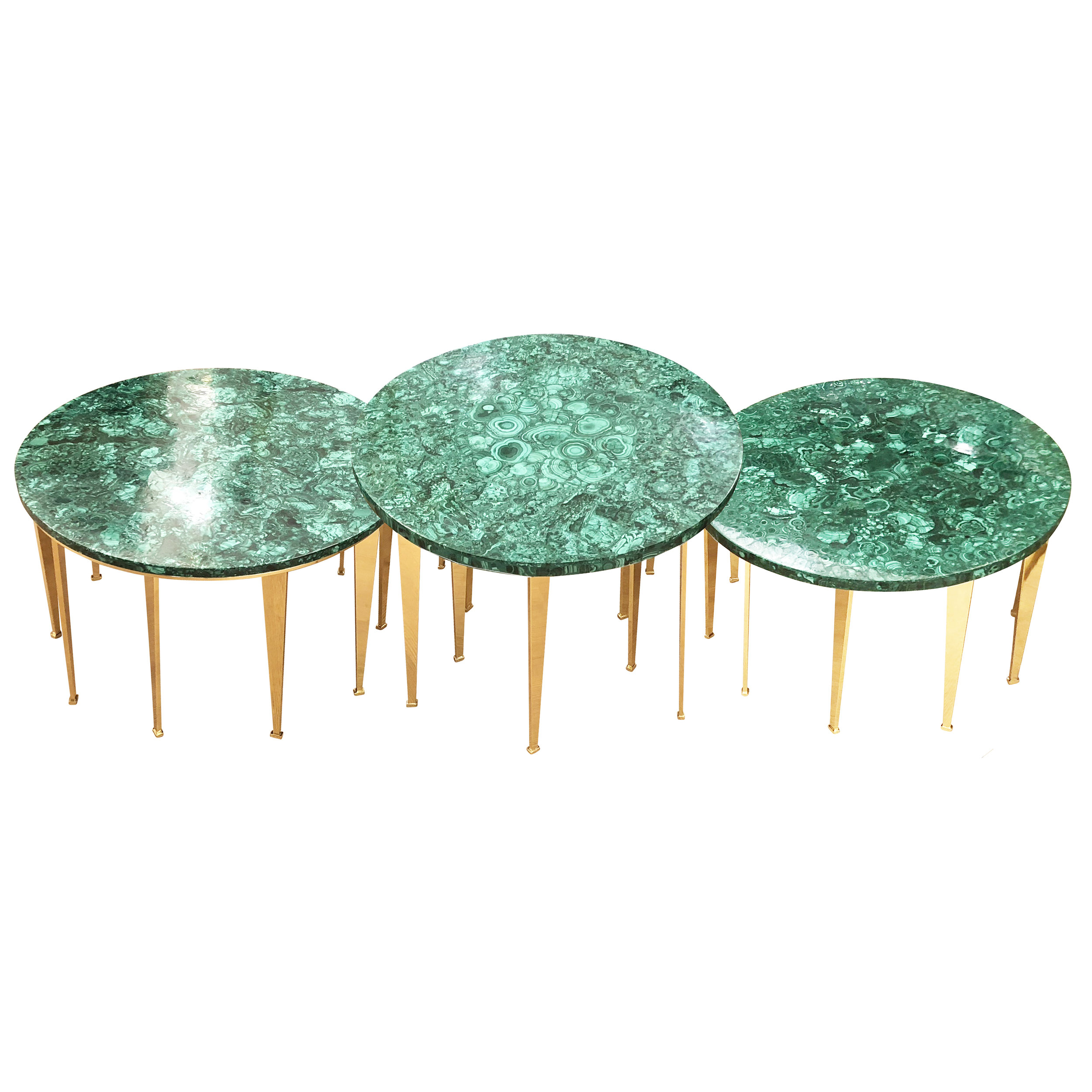 Limited Edition Malachite Coffee Table Or Side Tables Gaspare Asaro Italian Modern Mid Century Furniture And Lighting New York Ny