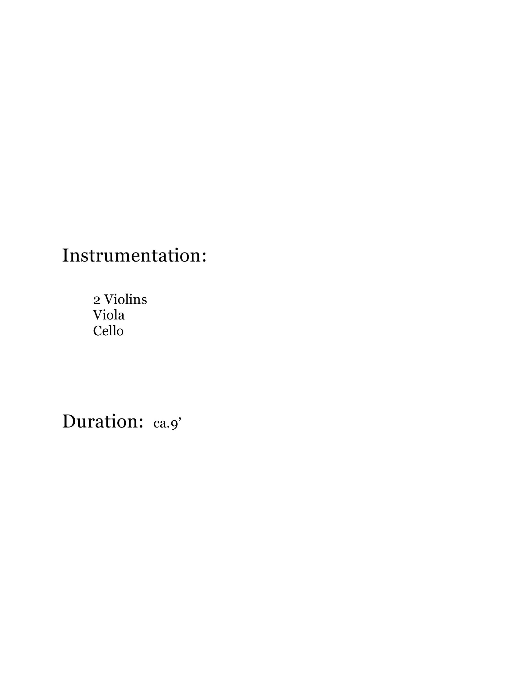 Hymn - String Quartet Version - Digital Score and Parts — Geoff Knorr