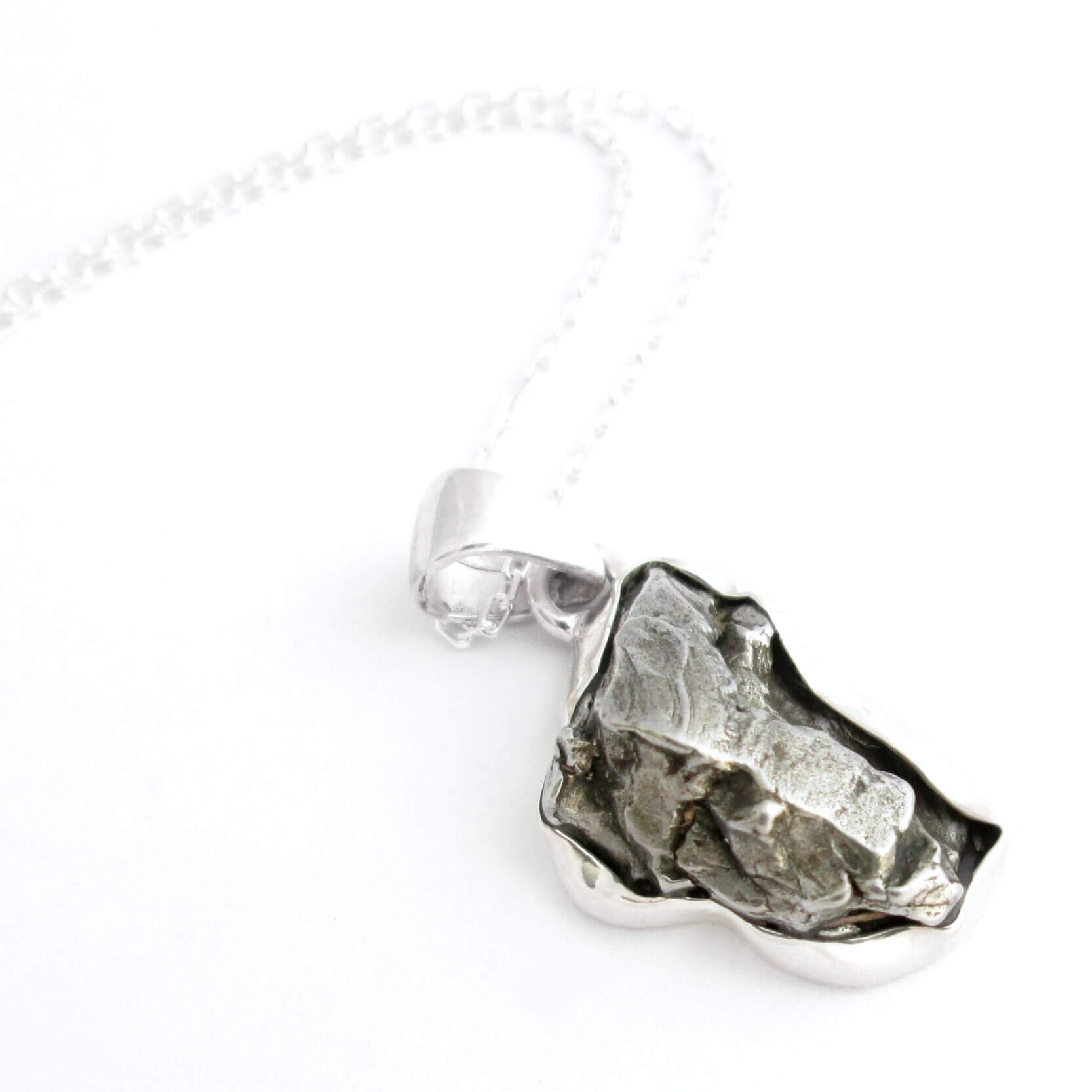 Campo del Cielo Meteorite Pendant 26.08 grams a unique Triangular shape and a gift from the cosmos